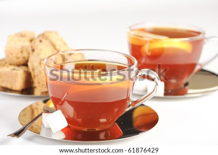 Antioxidant rich healthy herbal tea from the Western Cape region in South Africa. - stock photo
