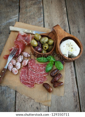 antipasti. - stock photo