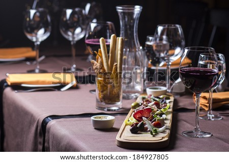 Antipasto and catering platter - stock photo
