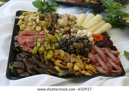 Antipasto display. - stock photo