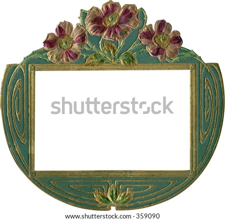 Antique Album Cover Frame Work Path Stock Photo (Royalty Free ...
