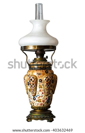 Antique art objects -  decorative old gas lamp