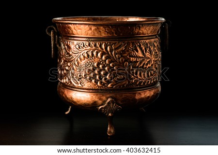 Antique art objects -  medieval cauldron