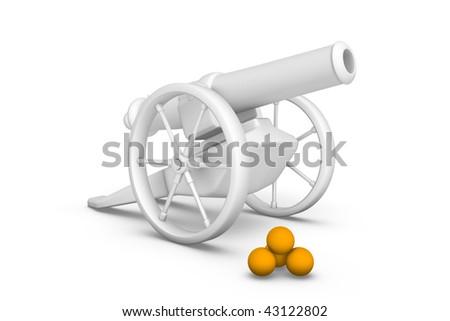 Antique artillery cannon - stock photo