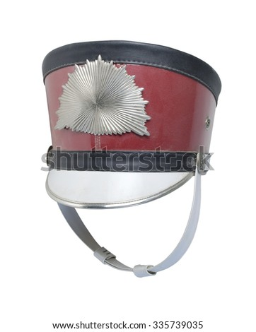 Antique band hat with metal starburst pattern - path included - stock photo
