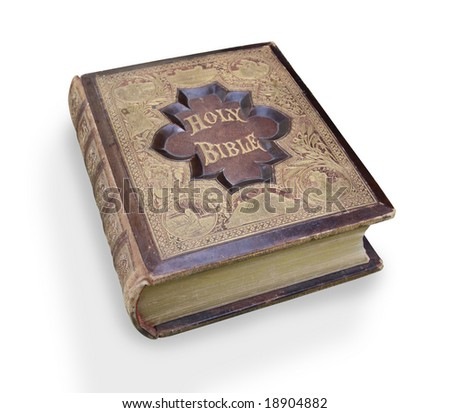 Antique Bible. - stock photo