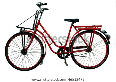 antique bicycle - stock photo