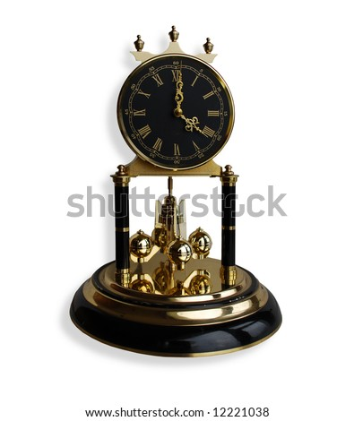 Antique Black and Gold Clock
