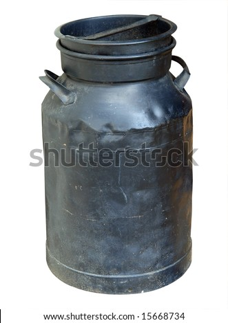Antique Black Can isolated with clipping Path