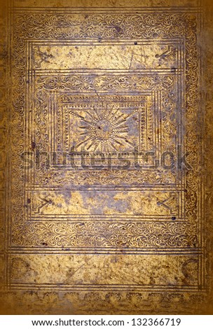 Antique book background - stock photo
