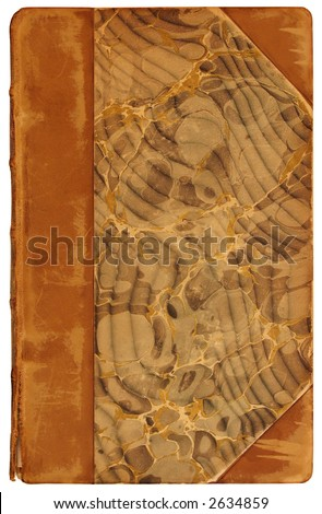 Antique Book Cover, 1878 - stock photo