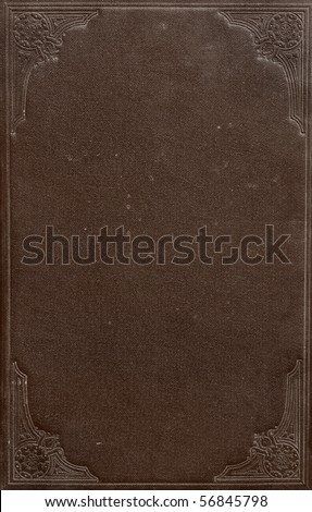 Antique Book Cover - stock photo