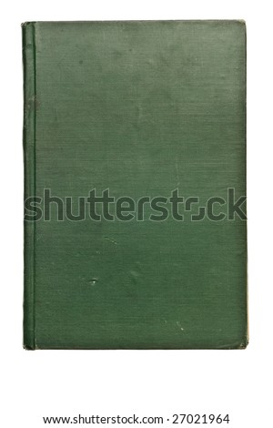 Antique book from the 1800's isolated on white background - stock photo