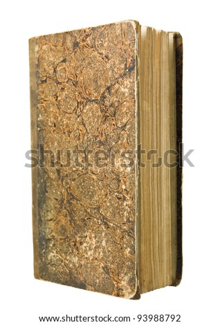 Antique Book isolated on white background - stock photo