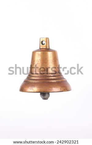 Antique bronze bell - stock photo
