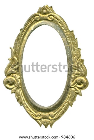 Antique Cameo Frame Some Grunge Wear Stock Photo (100% Legal ...