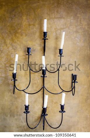 Antique candelabra - stock photo