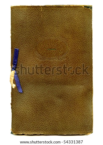 Antique Certificate holder front cover 1938 - stock photo