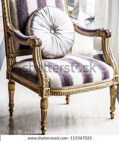 antique chair. - stock photo