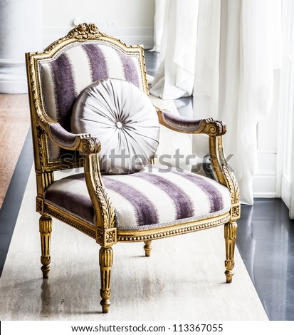 antique chair. - stock photo