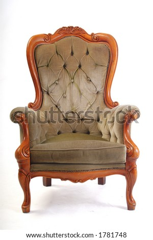 antique chair - stock photo