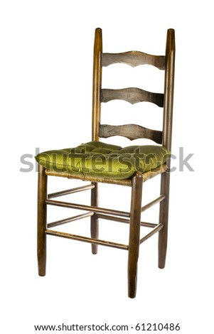 Antique chair isolated on white - stock photo