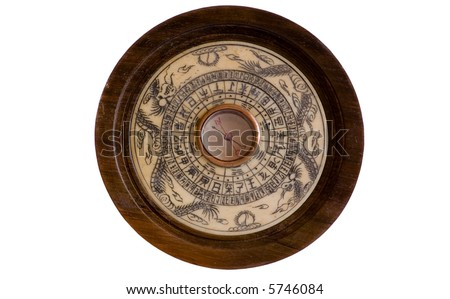 Antique Chinese Compass - stock photo