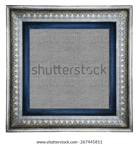 antique classical frame isolated on white background  - stock photo