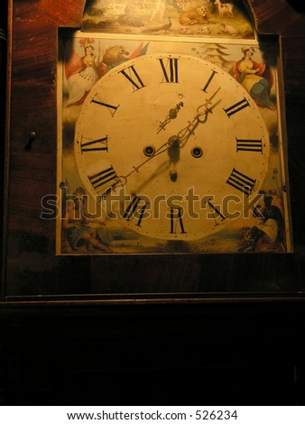 Antique Clock Face, Father Time