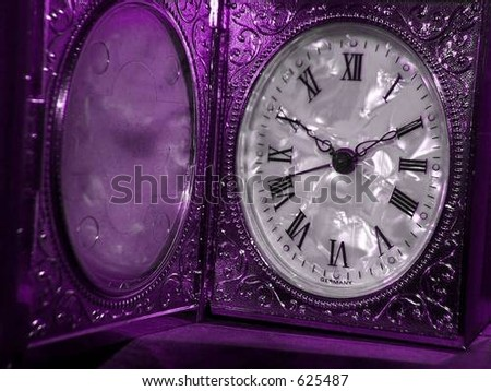 Antique Clock,mother-of Pearl face