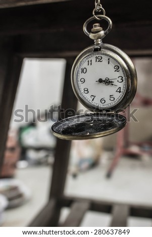 Antique clocks in a classic style. - stock photo