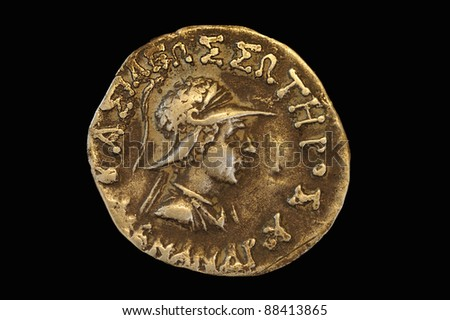 antique coins - stock photo