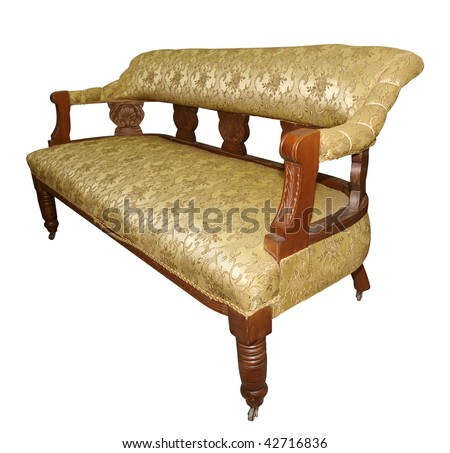 Antique Couch isolated with clipping path