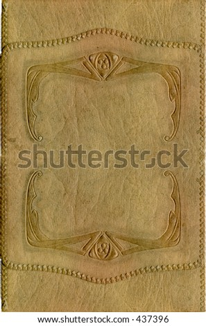 Antique cover with grunge intact