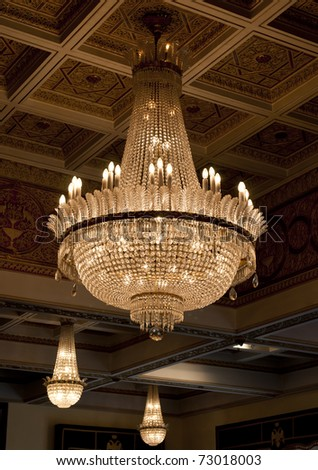 Antique crystal chandelier stock photo download now 73018003 antique crystal chandelier aloadofball Images