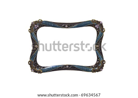 antique Curve frame - stock photo