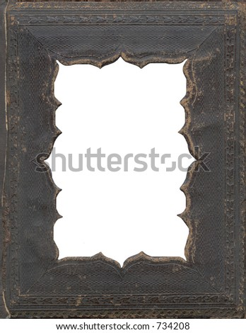 Antique Daguerreotype Frame Cutout - stock photo