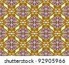 antique damask floral background - stock photo