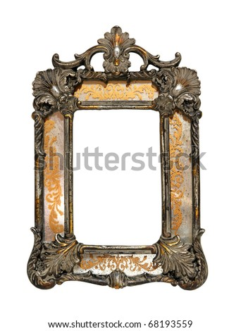 Antique decorative frame isolated with clipping path included - stock photo