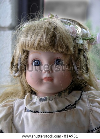 antique doll close-up
