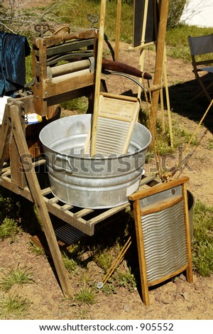 Antique domestic items found in a civil war encampment. - stock photo