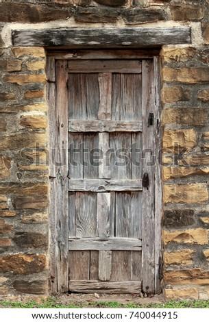 Antique door at Historic Spanish Mission in San Antonio Texas & Mission Door Stock Images Royalty-Free Images u0026 Vectors ... pezcame.com