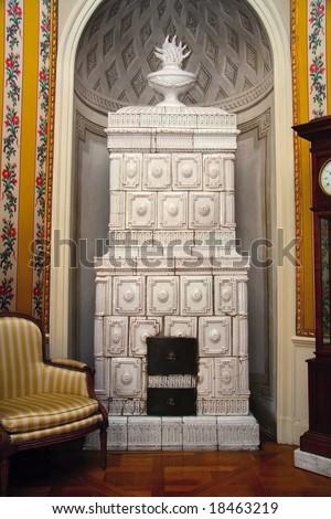 Antique European house - Palace interiors - stock photo