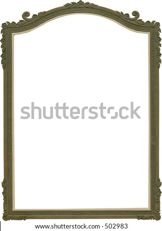 Antique fancy frame from early 1900's. Work path -- just drop in your image. - stock photo