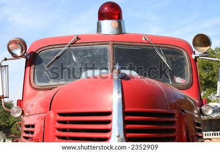 Antique Fire Truck - stock photo