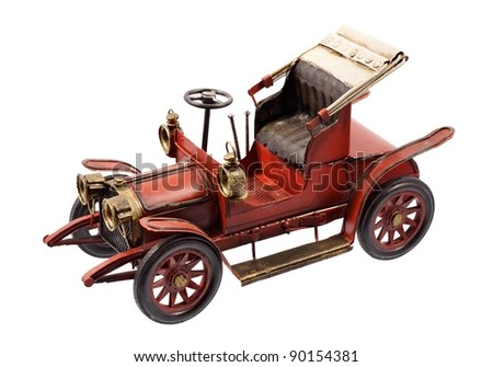 Antique firetruck car - stock photo