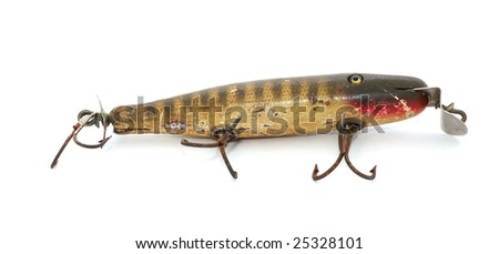 Antique fishing lure - stock photo