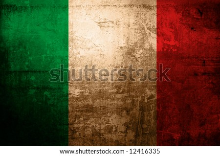 antique flag of italy - stock photo