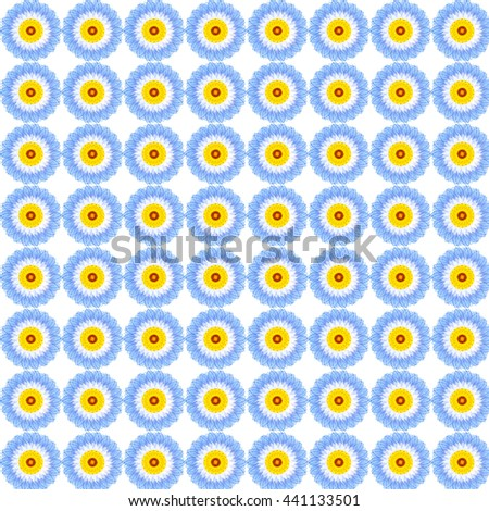 Antique floral fabric with flowers pattern useful for textures and background. - stock photo