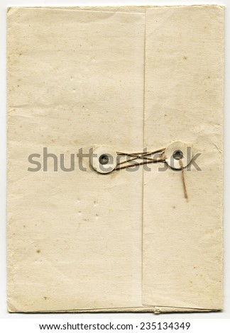 Antique Folder with String Closure - stock photo